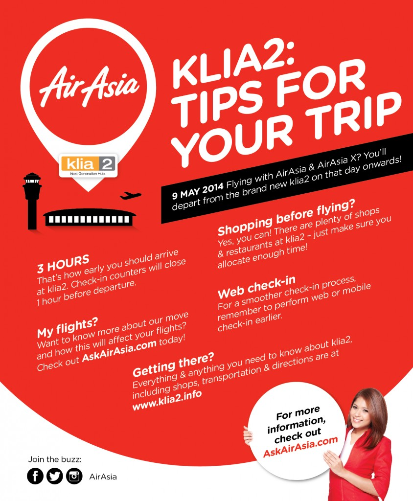 KLIA2 : TIPS FOR YOUR TRIP