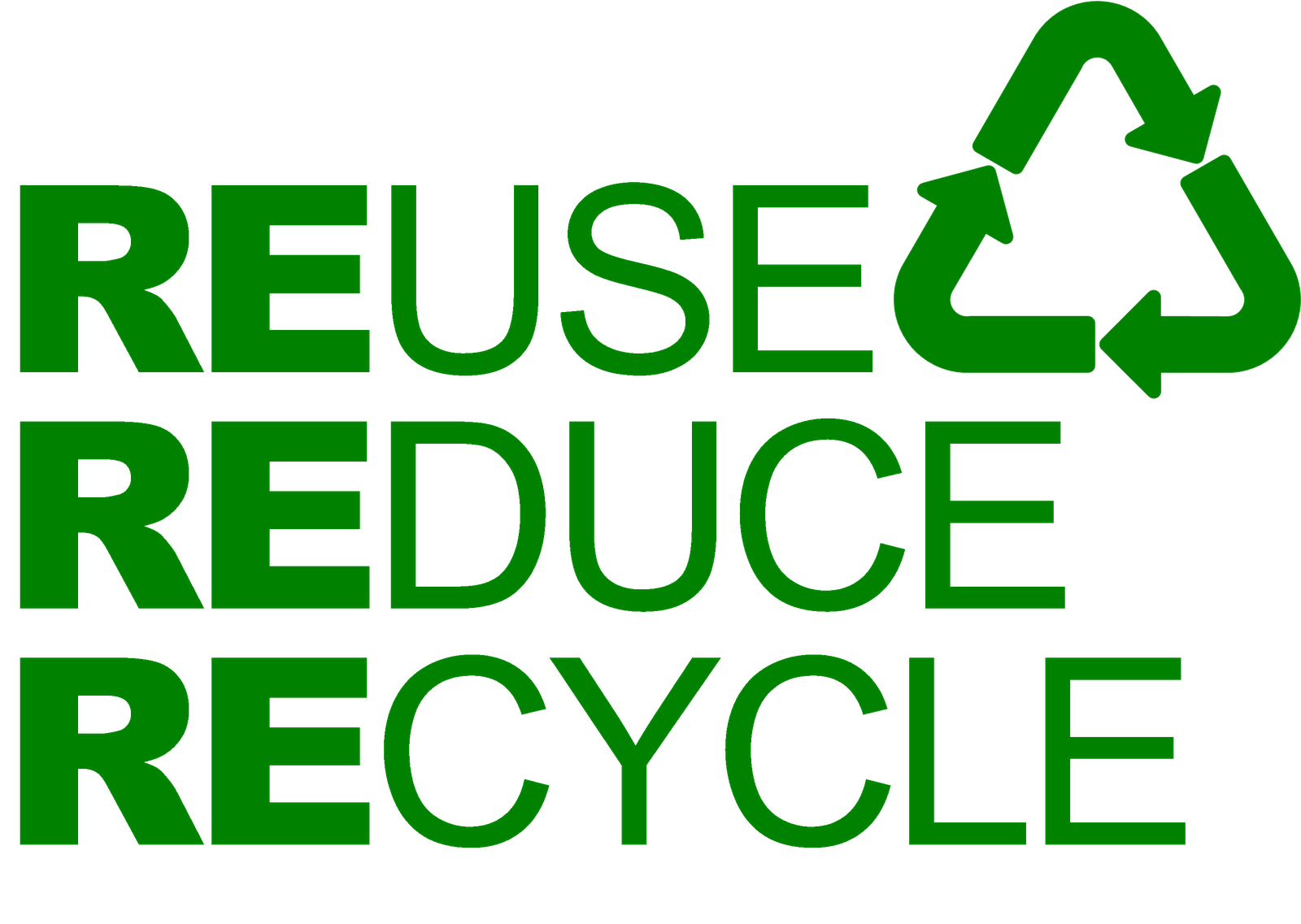 Resue ...Reduce...Recycle..Save the world